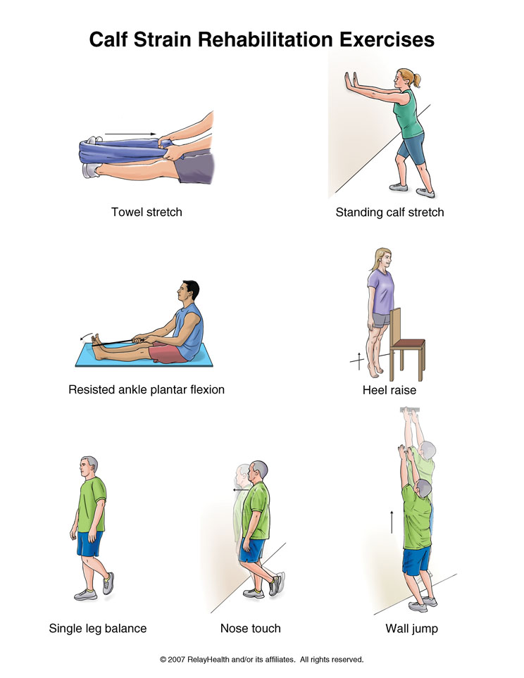 درمان کشیدگی ساق پا