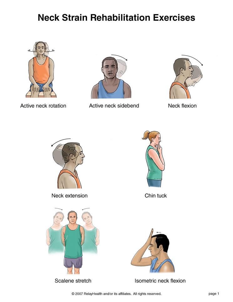 درمان درد گردن و تقویت عضلات گردن
