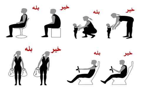 نتیجه تصویری برای بلند شدن و نشستن  روی صندلی