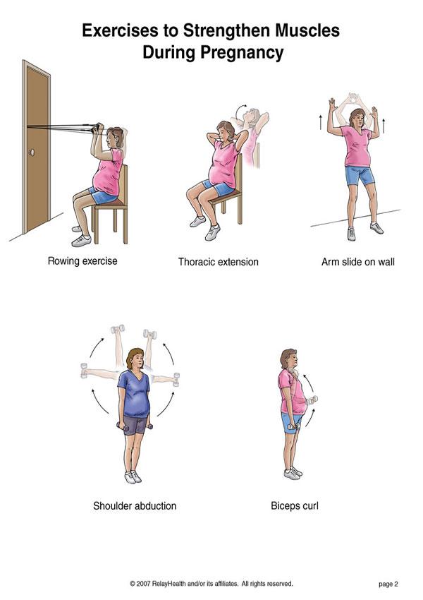ورزش در بارداری برای تقویت عضلات بدن