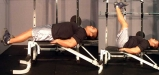 Flat-Bench-Lying-Leg-Raise.-elmevarzesh