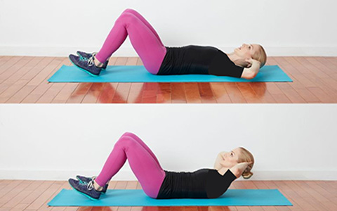 آموزش 7 حرکت برگزیده برای تمرین عضلات شکم