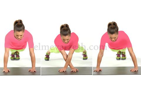 Lateral Plank Walk ۸ تمرین بدنسازی با وزن بدن بدون وسیله – عکسی