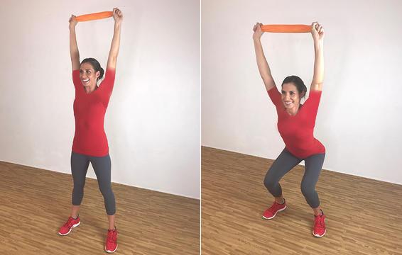Overhead Squat ۲۰ دقیقه تمرین بدون وزنه در منزل جهت عضلات ران، باسن، بازو و همچنین شکم