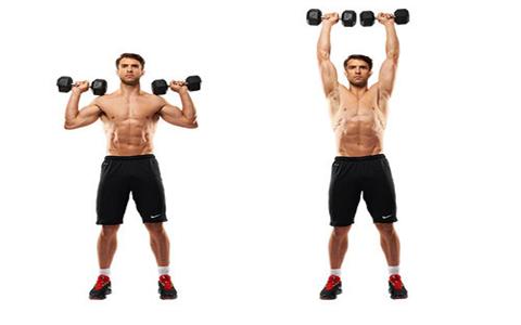 OverheadShoulderPress ۴ تمرین ساده جهت تقویت عضلات بازو و همچنین شانه