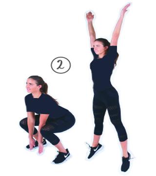 Pop Squats ۴  حرکت اسپورت و ورزشی جهت شارژ کردن کردن بدن در صبح – عکسی