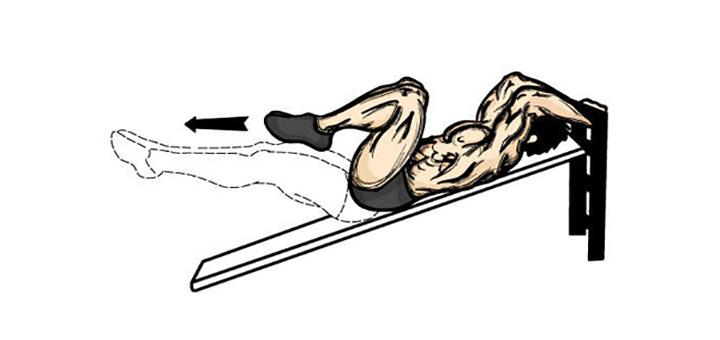 آموزش حرکت کرانچ معکوس میز شیب دار