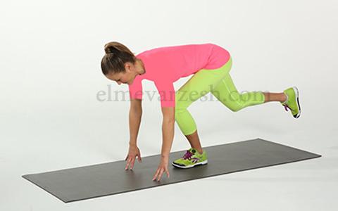 Single Leg Balance Touch ۸ تمرین بدنسازی با وزن بدن بدون وسیله – عکسی