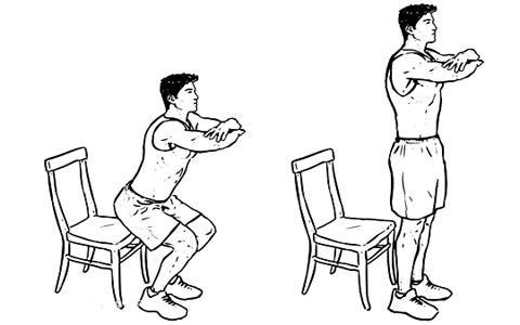 chair squat برنامه جذاب و جالب و خوب اسپورت و ورزشی مؤثر و همچنین با نتایج سریع که تنها و فقط به پله مستلزم و نیاز دارد