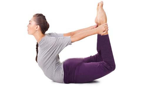 dhanurasana حرکات یوگا جهت دوران قاعدگی