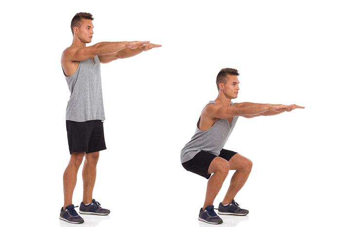 آموزش حرکت اسکوات + فیلم و عکس | علم ورزش